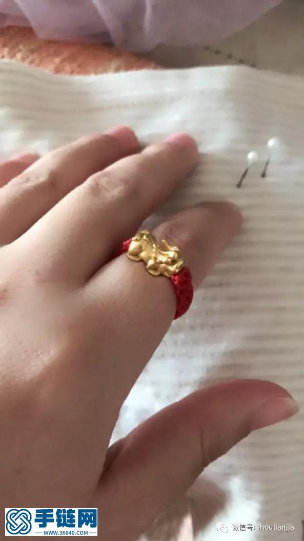 中国结貔貅戒指