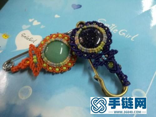 中国结蜡线向日葵胸针的编制方法