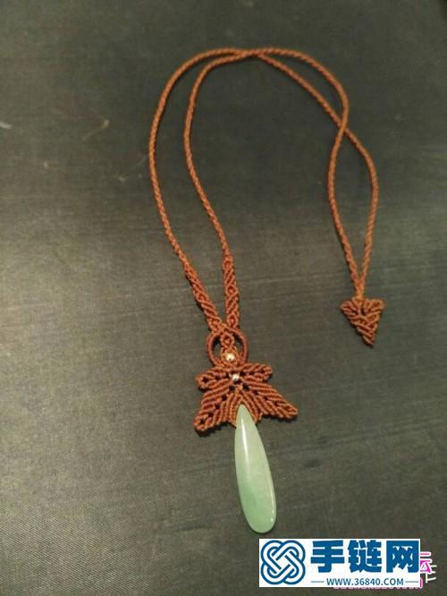 绳编绿坠儿毛衣链项链的详细编织教程