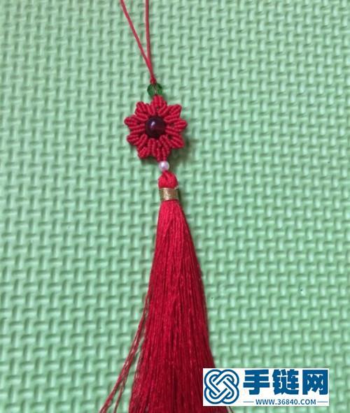 玉线石榴石星星挂饰的制作方法