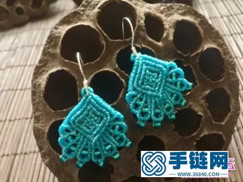 蜡线编织米珠耳环的详细制作图解