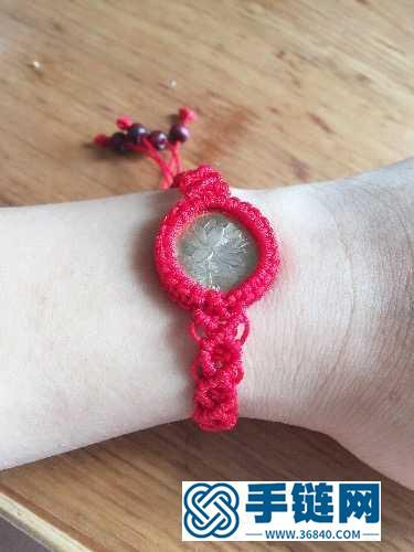 红绳包硬币木珠手链的编制教程