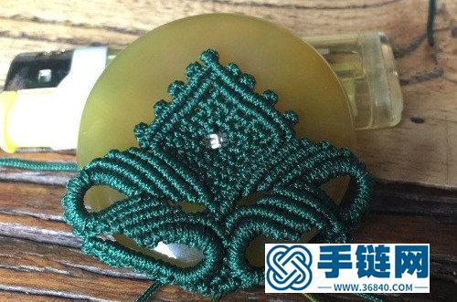 中国结玉线平安扣挂饰的详细编制方法