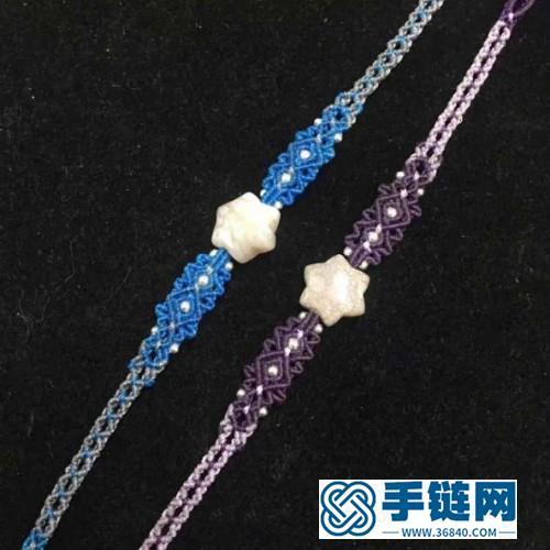 中国结南美扁蜡星星珊瑚玉手绳的详细编制方法