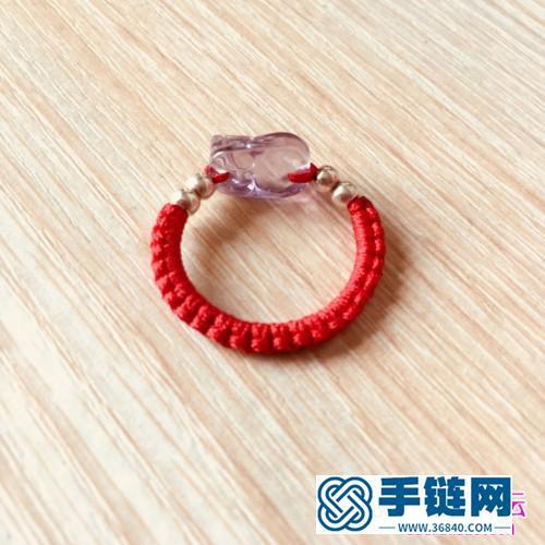 绳编貔貅戒指的编制教程