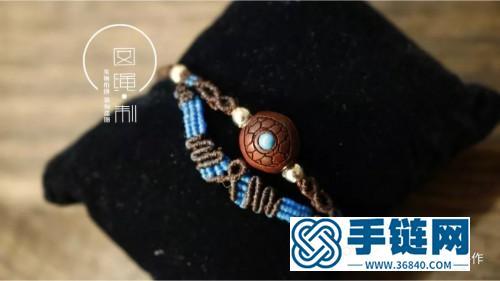 绳遍微芯蜡线檀木珠脚链的详细编制教程(囡绳手作)