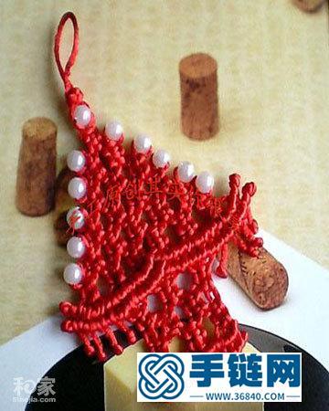 编织幸福珍珠圣诞树图解