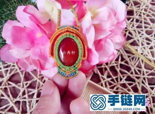 中国结编织五彩民族风项链教程