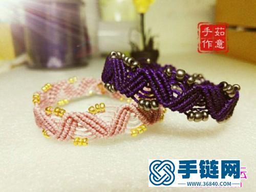 米珠小手链的制作方法