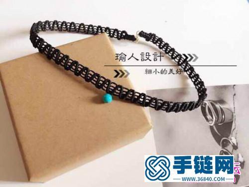 中国结编织锁骨项链的方法图解
