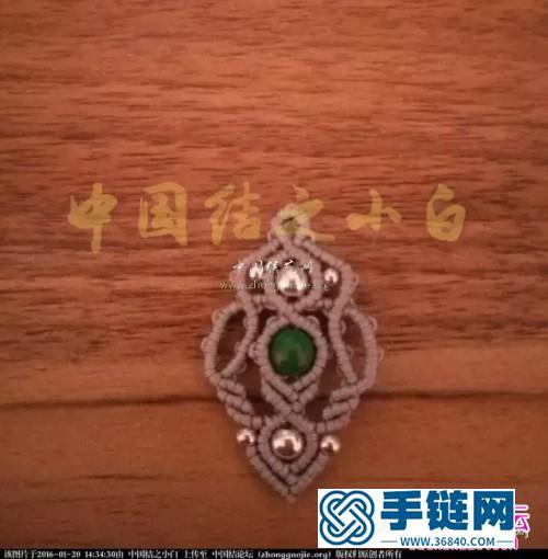 中国结编织银珠耳环方法图解