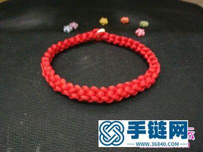 绳编锁结情侣手绳的方法