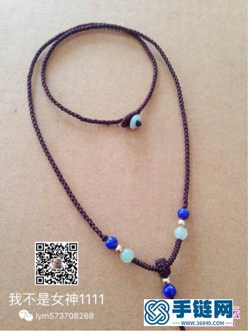 中国结编织翡翠金珠项链挂绳教程