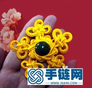 中国结编结制作的精美胸花图解
