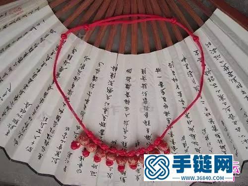 攀缘结项链的编织方法
