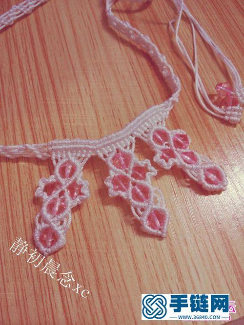 中国结编织的粉晶之恋项链教程