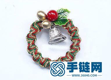 中国结编织制作的圣诞胸针图解