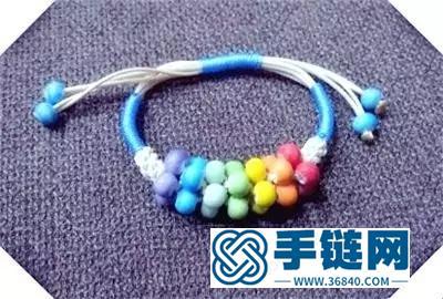彩珠儿童手链的制作方法