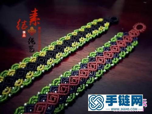中国结编织银珠手绳方法图解