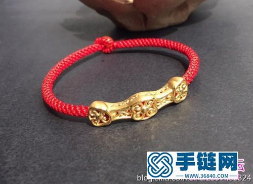 黄金如意手链的制作方法