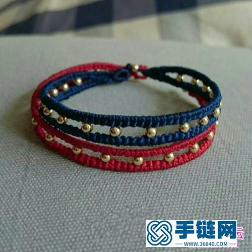 中国结编织银珠手链的方法图解