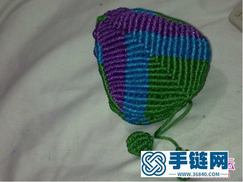 中国结编织心型小香包方法图解