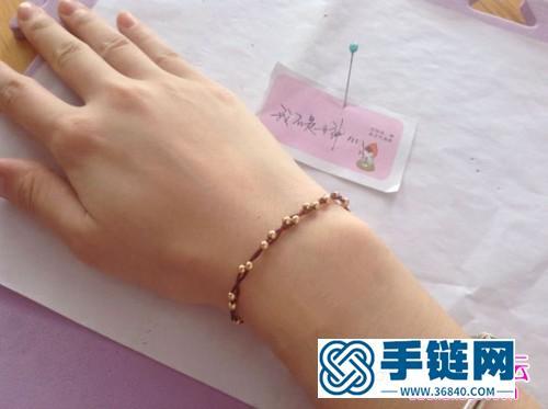 中国结编织二股串珠手绳教程