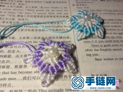 手工绳编项链教程,如何制作星星结