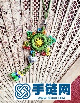 兰亭教你用小塑料圈和绳编中国风小吊坠图解