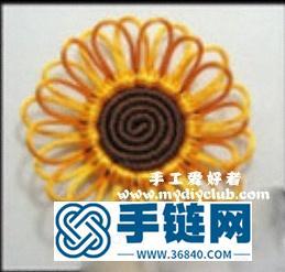 绳编简单的向日葵花教程