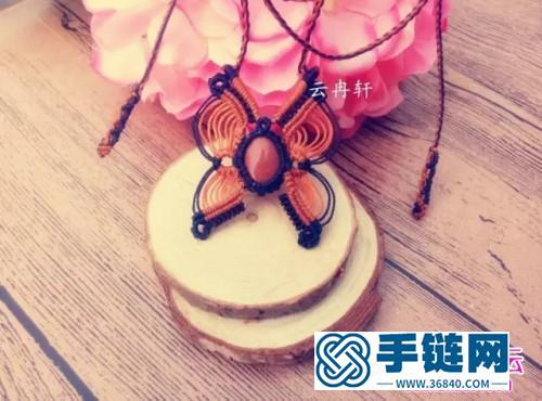 中国结编织蝴蝶项链教程