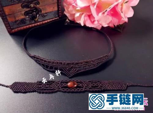中国结编织制作的锁骨项链教程
