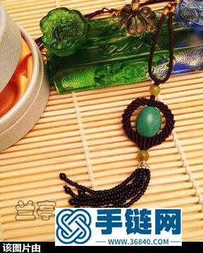 来自西藏的绿松石结饰编法