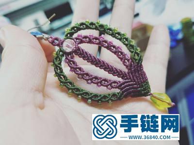 中国结编绳首饰_简单DIY编法热气球耳坠的方法图