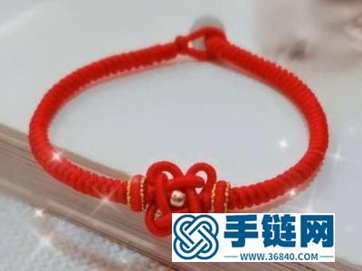 编绳酢浆草结教程_简单DIY编法绕线四叶草手绳