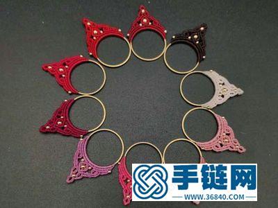 蜡线编法小挂件制作_可爱的简单DIY编绳饰物吊坠