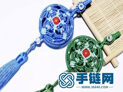 编绳镂空香囊挂件_手工制作中国结传统香囊
