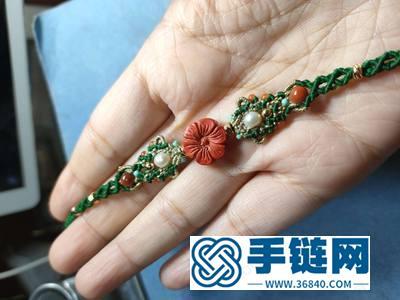 新年手绳编法_简单DIY编法朱砂花朵手绳图解
