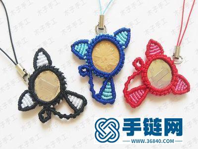 手工编织教程_如何用硬币做一个招财猫挂件