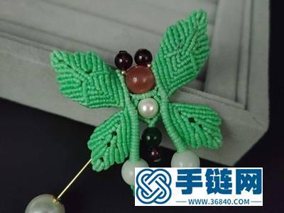 斜卷结编绳创意_diy扁蜡线编法小清新蝴蝶