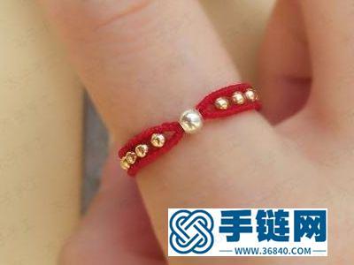 简单DIY母亲节礼物_绳编漂亮红绳戒指编法方法
