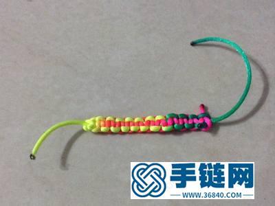 中国结手绳编法_简单DIY编法双向彩绳平结手绳