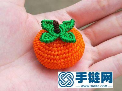 柿柿如意编绳_简单DIY手工玉线编法柿子