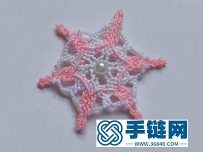 手工编织装饰_简单的六角形雪花编法教程