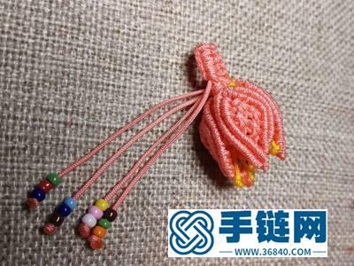 中国结编绳作品_编法母亲节礼物郁金香花