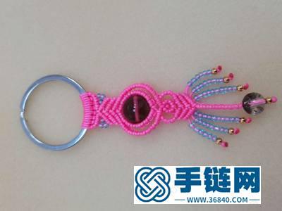 中国结编绳步骤_编法包挂钥匙扣教程