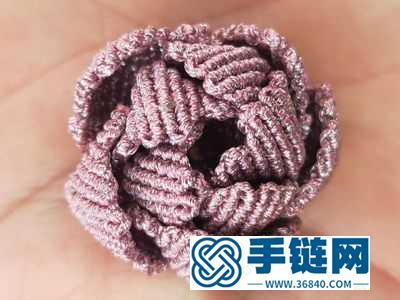 简单DIY编绳小花_编法牡丹的编制方式