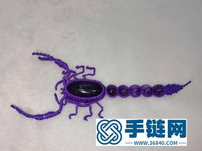 教你用绳子编蝎子_简单DIY编绳蝎子图解