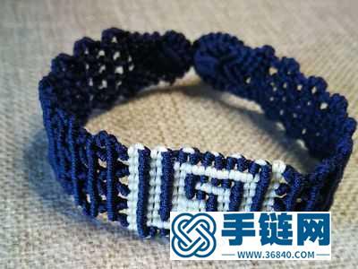 手工编织教程_民族风回纹手绳的编法图解