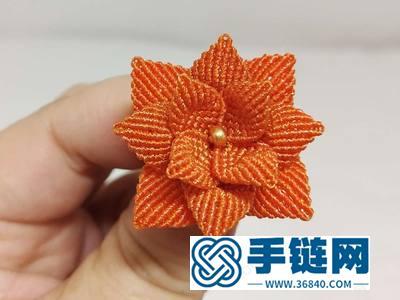 中国结编绳的方法_编法金色长寿花图解教学